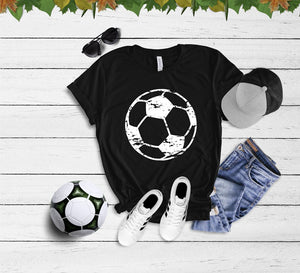 Distressed Soccer Tee (Black)