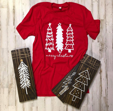 Tree Trio Red Tee