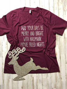 Merry and Bright Foil Tee
