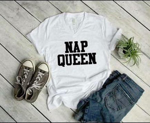 Nap Queen White V Neck DROPSHIP