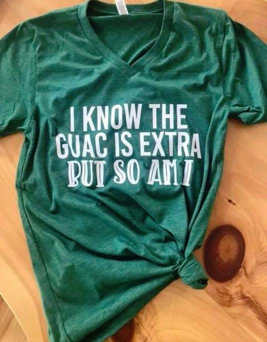 Guac Is Extra (Heather Grass Green) DROPSHIP