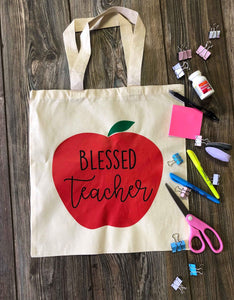 Blessed Teacher Tote Bag