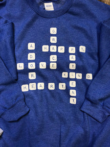 Love Scrabble Sweatshirt DROPSHIP