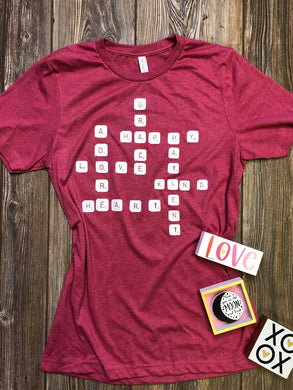 SALE Love Scrabble Prints