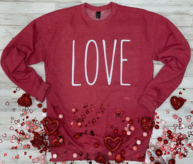 Love (Tultex Heather Red)