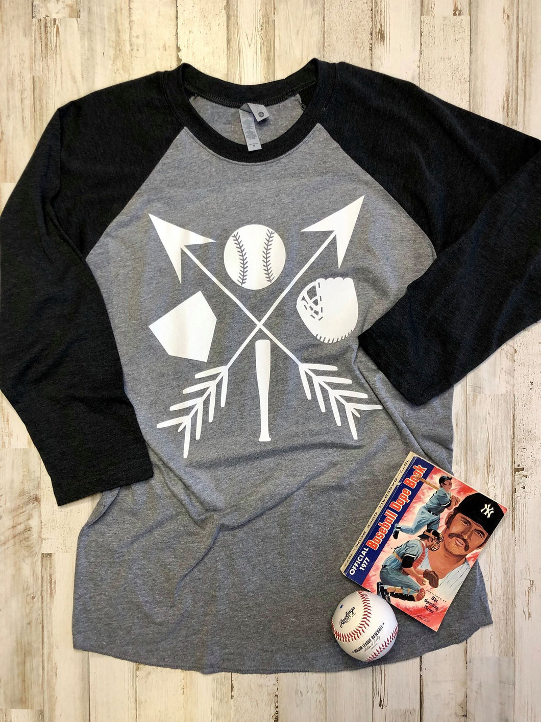 Baseball Arrow Raglan DROPSHIP