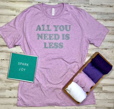 SALE All You Need Is Less/Marie Kondo Transfers