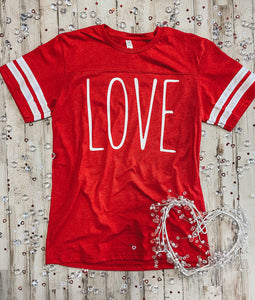 LOVE Jersey Tee (Red) DROPSHIP
