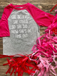 She Believed Kids Tee DROPSHIP