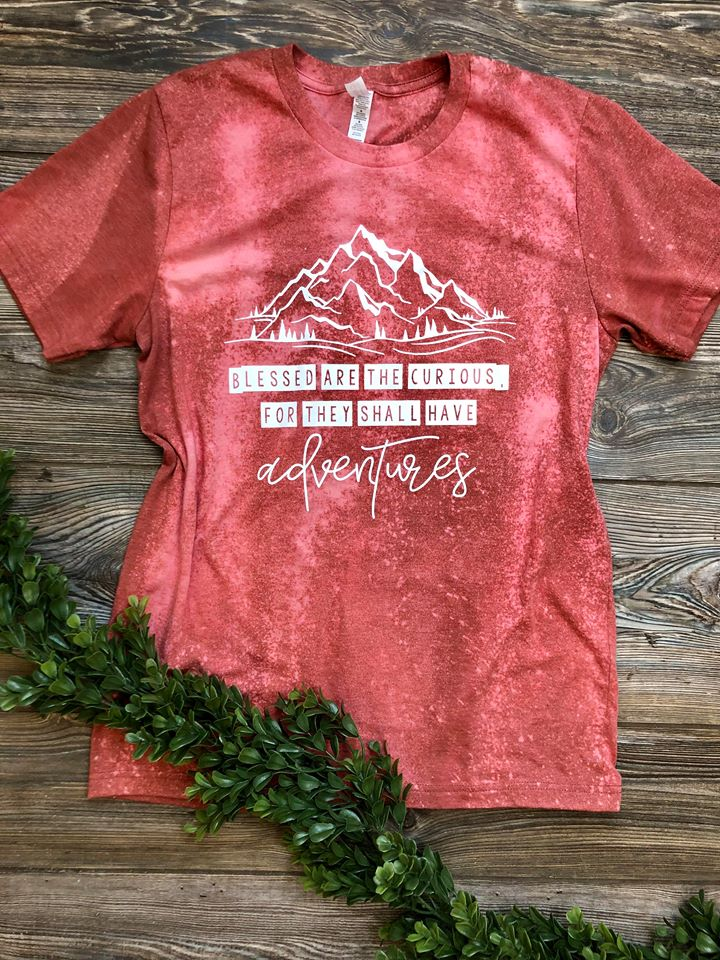 Blessed Are The Curious Heather Clay (Distressed)