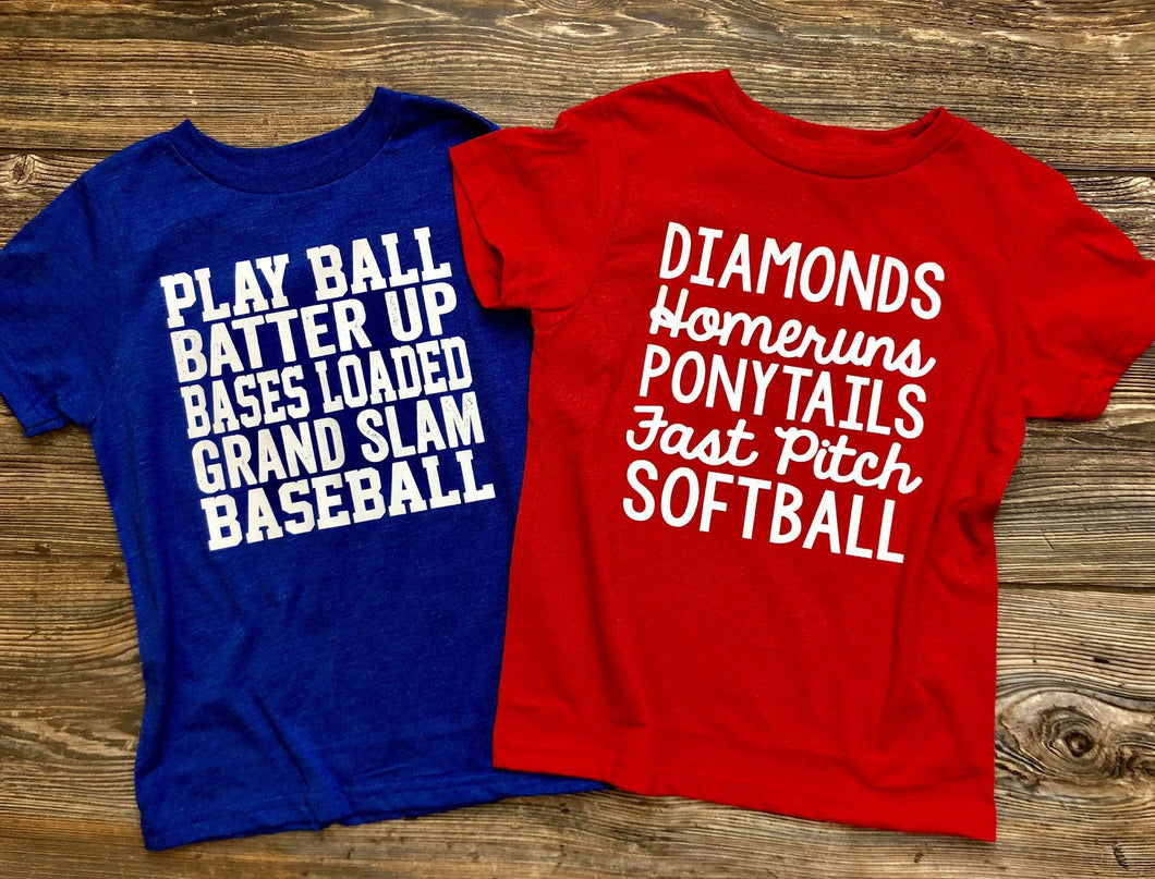 Softball Phrases (Kids) DROPSHIP