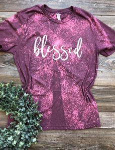 Blessed (paintbrush) (Distressed) DROPSHIP