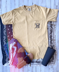 Anti Social Butterfly (Golden) Comfort Colors Pocket Tee DROPSHIP