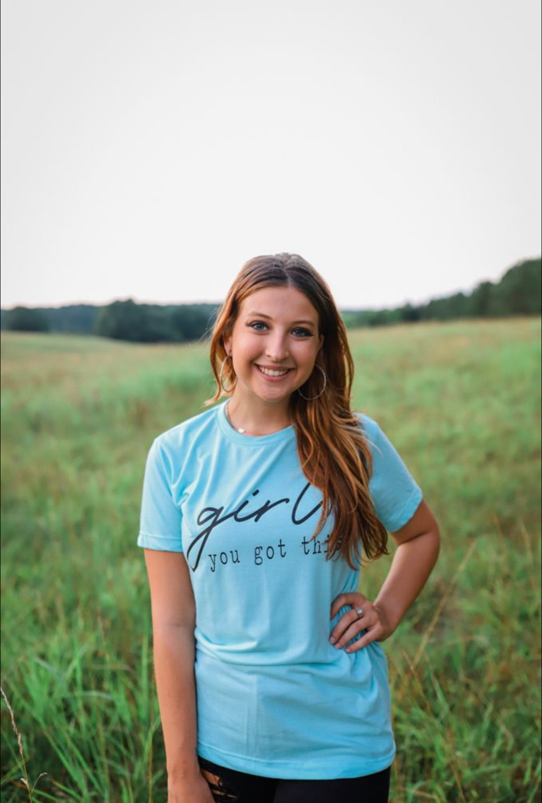 Girl, You Got This (Tultex Heather Purist Blue) Tee
