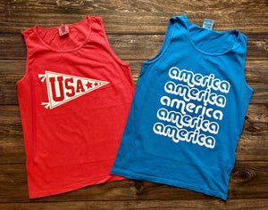 Retro America Comfort Colors Tank DROPSHIP