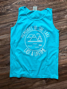 Lake Memories Comfort Colors Tank (Lagoon)