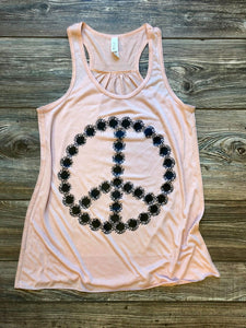Sunflower Racerback Tank (Peach) DROPSHIP