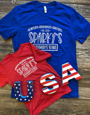 Sparky's Fireworks Stand Tee Kids