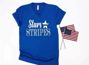 Stars and Stripes Tee Crew DROPSHIP