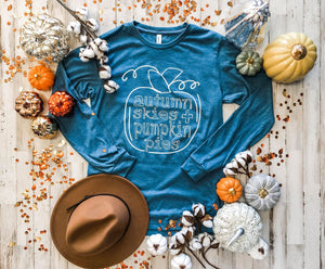 Autumn Skies and Pumpkin Pies Transfers