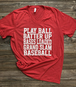 Softball Phrases Tee DROPSHIP