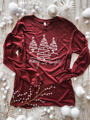 Merry and Bright Trees (Heather Cardinal) Tee