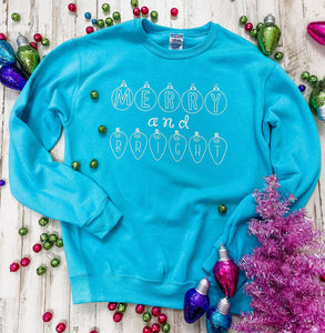 Merry and Bright Ornamental Sweatshirt DROPSHIP