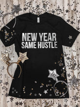 Load image into Gallery viewer, New Year Same Hustle Black Tee DROPSHIP