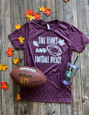 Fall Leaves and Football Please Transfers