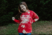 Load image into Gallery viewer, Gonna Go Lay Under The Tree Sweatshirt (Red) Distressed