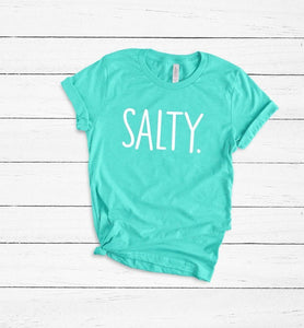 Salty Heather Sea Green Tee DROPSHIP