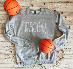 BASKETBALL Sweatshirt (Athletic Grey) DROPSHIP