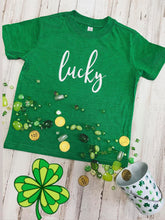 Load image into Gallery viewer, Lucky Kids Tee (Vintage Green)