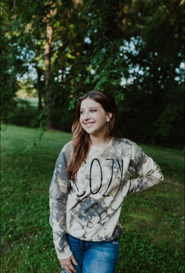 Cozy (Black Ink) Distressed Sweatshirt