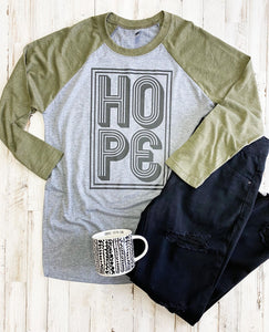 Hope (Military Green Raglan)