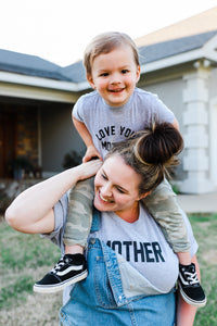 Love Your Mother Tee (Athletic Grey)