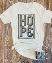 Load image into Gallery viewer, Hope Tee (Heather Cement)