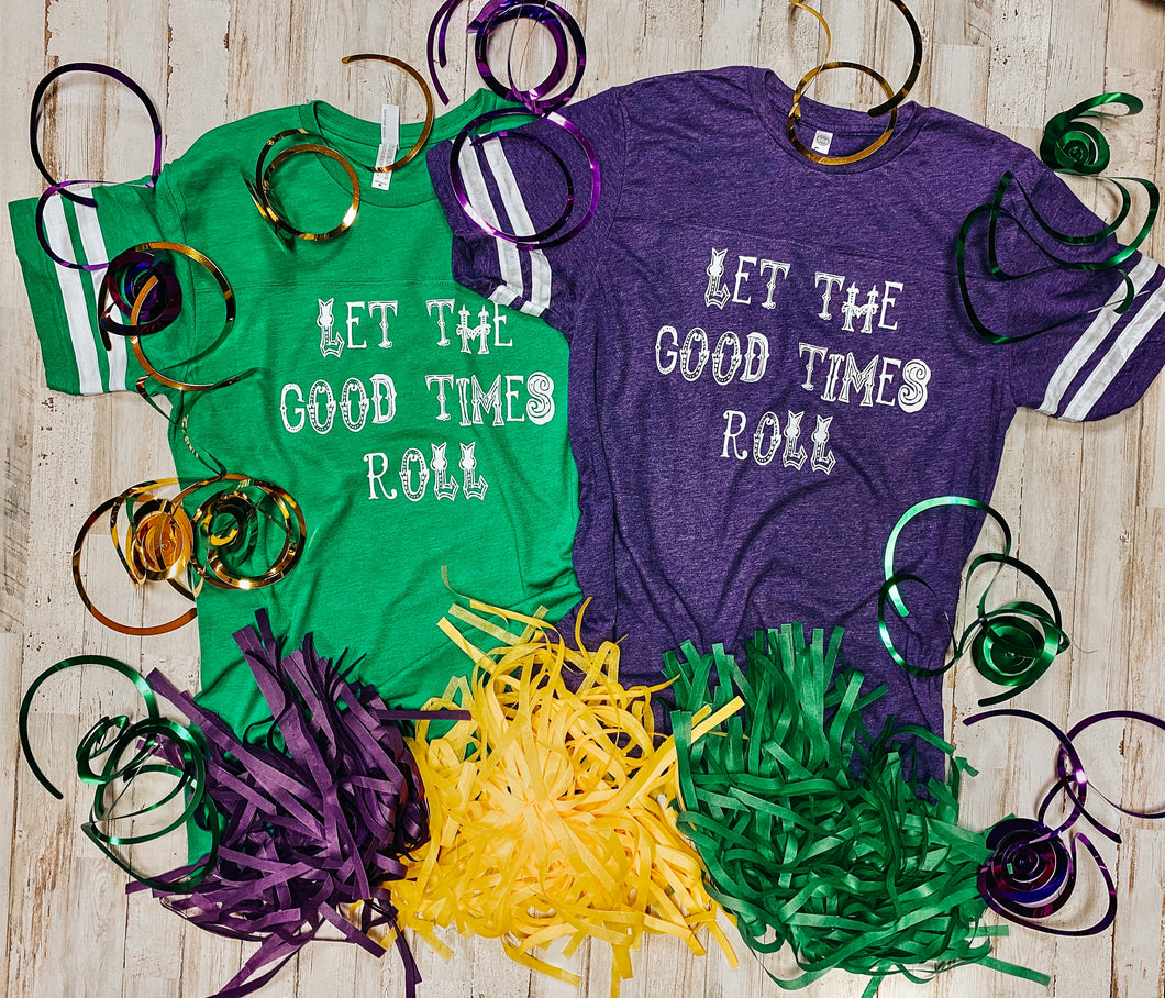 Let The Good Times Roll Jersey Tee DROPSHIP