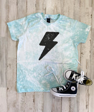 Load image into Gallery viewer, Lightning Bolt Kids Tee (Heather Purist Blue) DISTRESSED