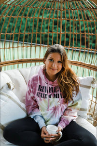 Kindness State of Mind Pastel Rainbow Tie Dye Hoodie