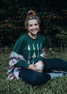 Tree Obsessed (Tultex Hunter Green Long Sleeve) DROPSHIP