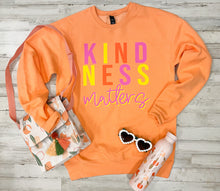 Load image into Gallery viewer, Kindness Matters (Cantaloupe Tultex Sweatshirt)
