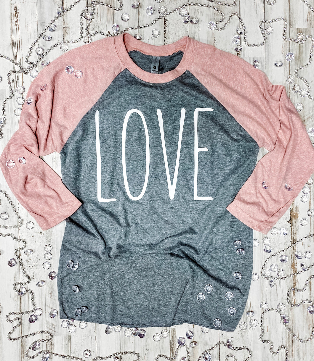 LOVE Raglan DROPSHIP