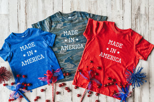 Made in America Kids Tee DROPSHIP