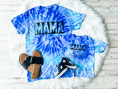 Mama is my Bestie Kids Tie Dye Tee