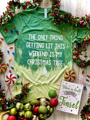 Lit Christmas Tree (Distressed)