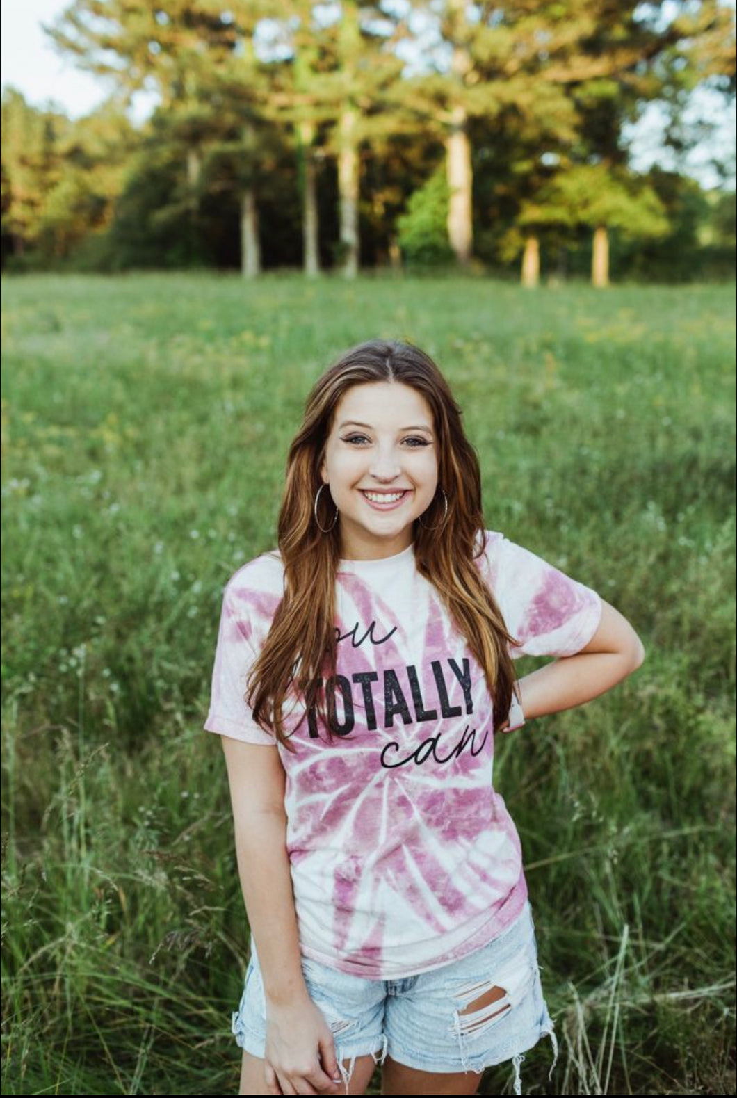 You Totally Can (Heather Cassis) TIE DYE DISTRESSED