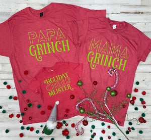 Papa Grinch (Tultex Heather Red)