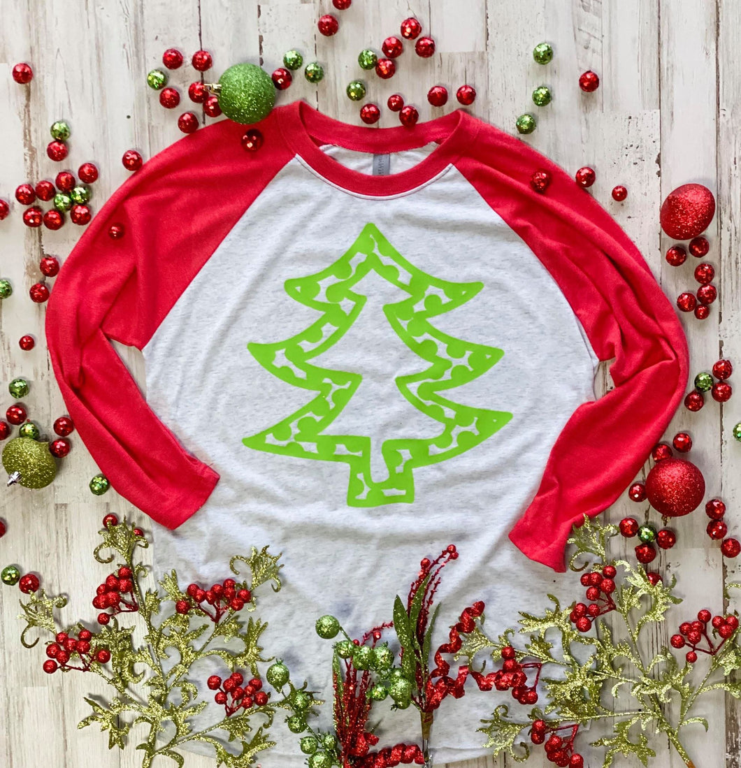 Polka Dot Tree Raglan DROPSHIP