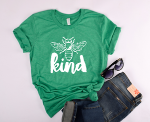 Bee Kind (white ink) Heather Kelly DROPSHIP